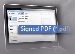 Create a tamper-proof PDF document with an nVision reference recorder.