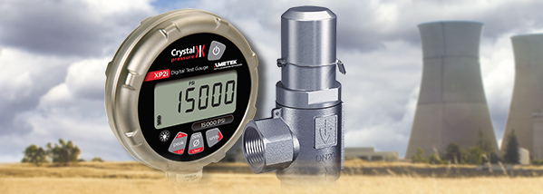 Pressure safety valve testing with an XP2i digital test gauge.